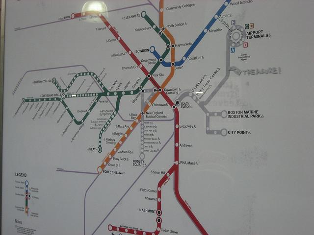 treasure subway map