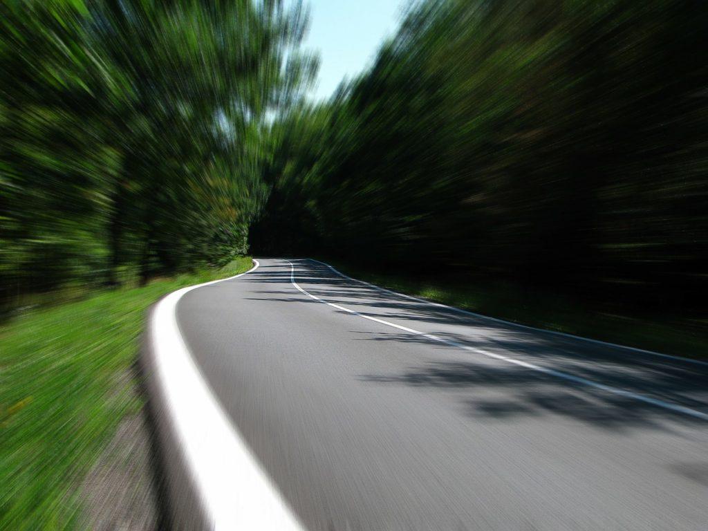 Speeding on road