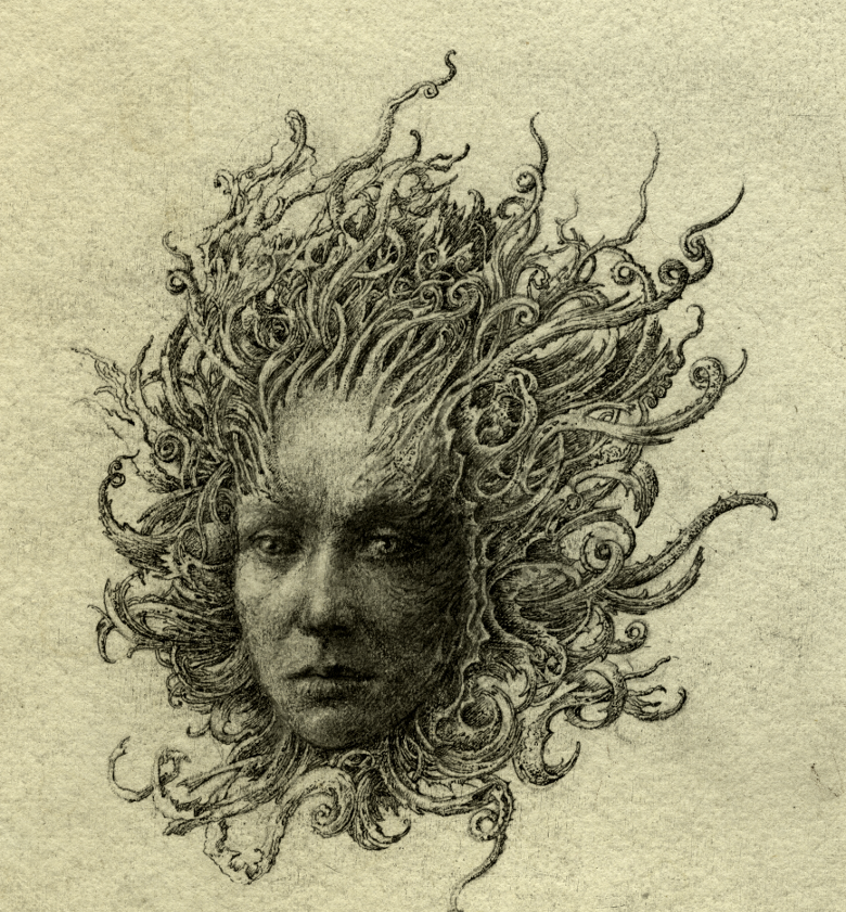 Medusa head sketch
